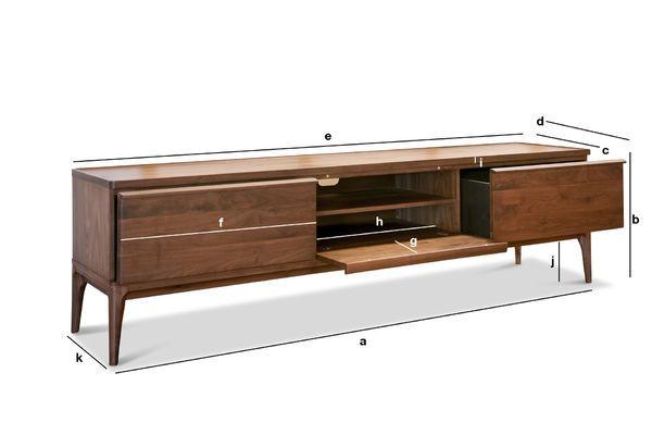 Dimensiones del producto Mueble TV de Nogal Hemët
