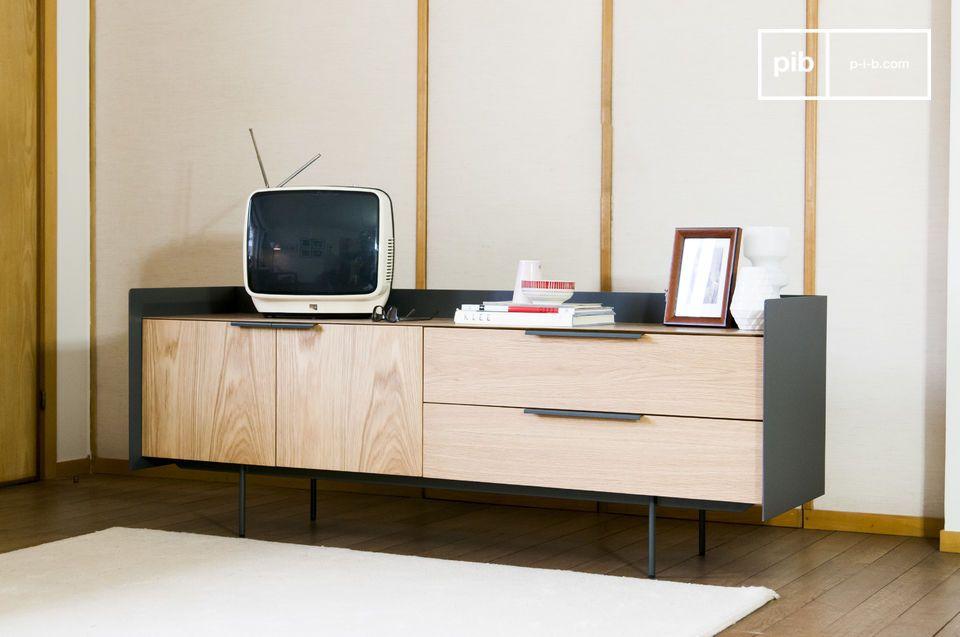 El mueble TV Jackson es una unidad de almacenamiento práctica