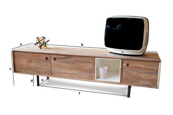 Dimensiones del producto Mueble TV vintage Bascole