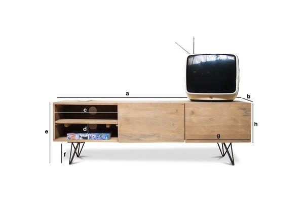 Dimensiones del producto Mueble TV Zurich