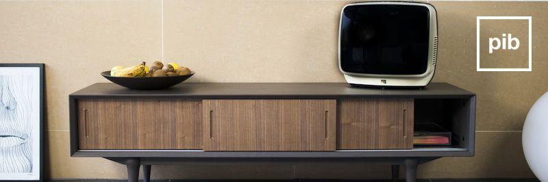 Muebles TV de madera y metal
