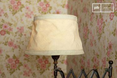 Pantalla de lampara Victoria color beige de 25 cm