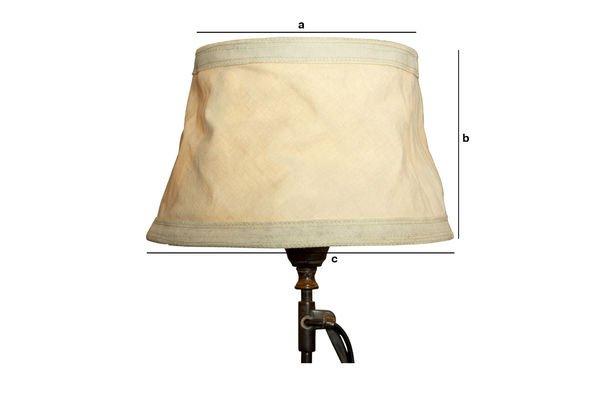 Dimensiones del producto Pantalla de lampara Victoria color beige de 25 cm