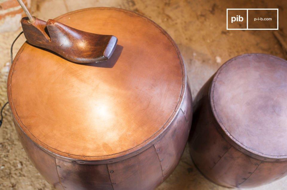 Las dos mesas Cobre son piezas absolutamente únicas