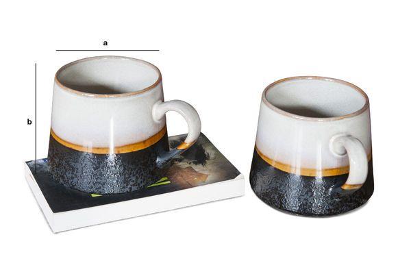 Dimensiones del producto Par de Tazas grandes Ceramix