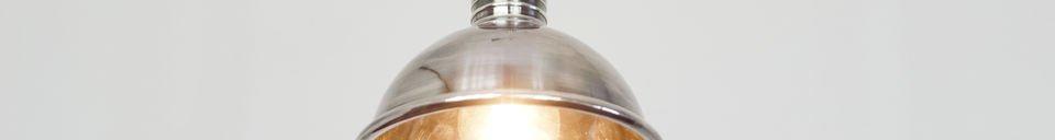 Descriptivo Materiales  Pequeña lámpara colgante plateada