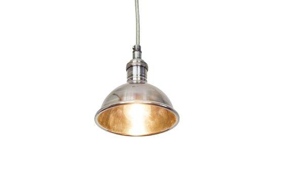 Pequeña lámpara colgante plateada Clipped
