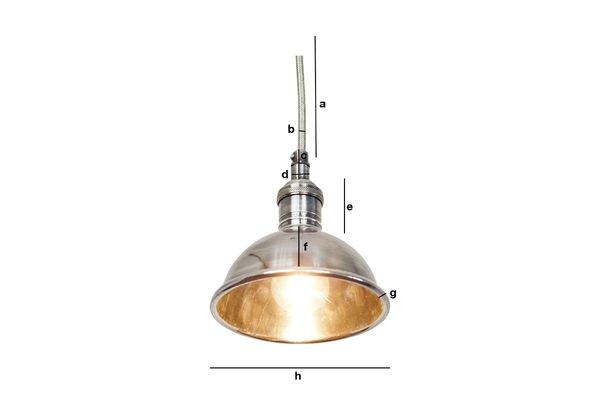 Dimensiones del producto Pequeña lámpara colgante plateada
