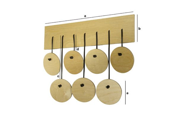 Dimensiones del producto Perchero escandinavo Billünd