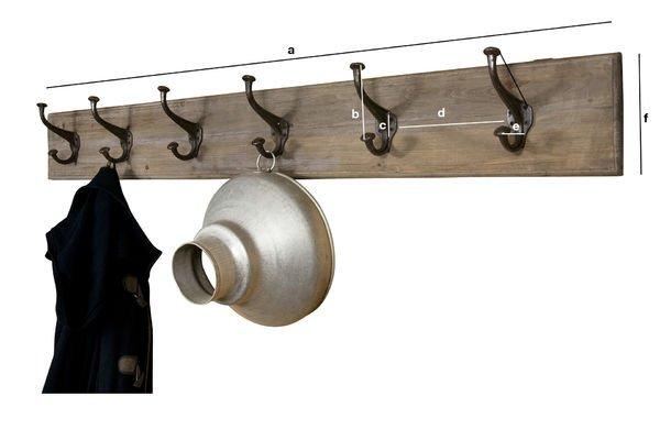 Dimensiones del producto Perchero gigante de metal y madera