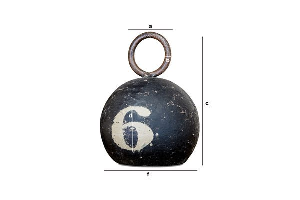 Dimensiones del producto Pesa negra numero 6
