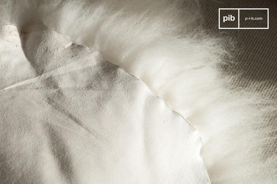 El brillo y la suavidad de una pila con largo pelaje