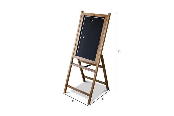 Dimensiones del producto Pizarra de madera Leon