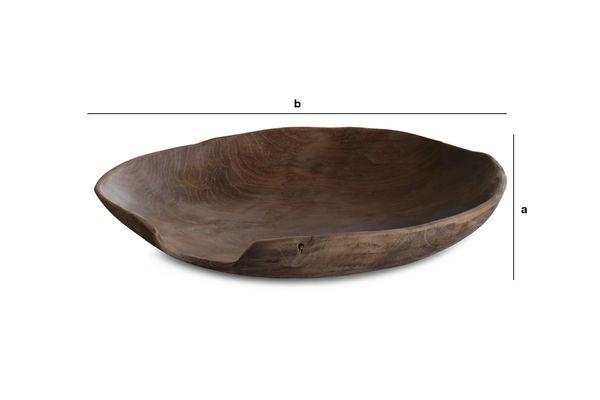 Dimensiones del producto Plato de teca de Bali