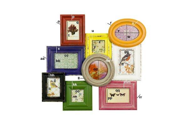 Dimensiones del producto Portarretratos llenos de color