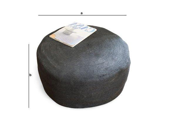 Dimensiones del producto Pouf Ottomana