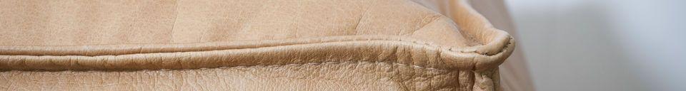 Descriptivo Materiales  Puf de cuero de Marsliden