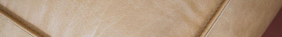Descriptivo Materiales  Puf de cuero Marsliden grande