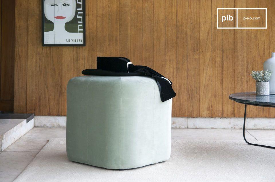 Puf de terciopelo verde Skagen