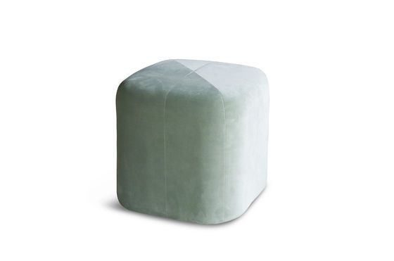 Puf de terciopelo verde Skagen Clipped