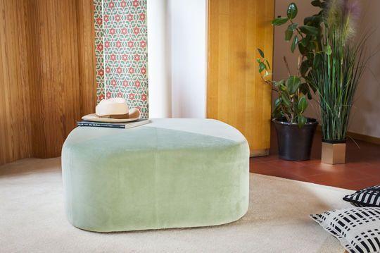 Puf verde grande de terciopelo Skagen