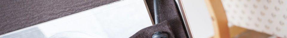 Descriptivo Materiales  Revistero de fieltro Strandis