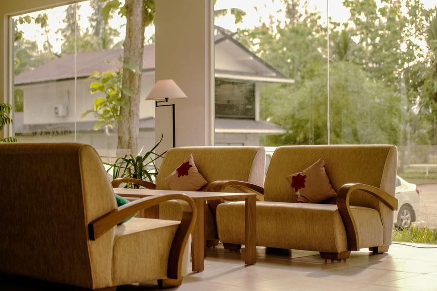 Salon con sillones estilo escandinavos
