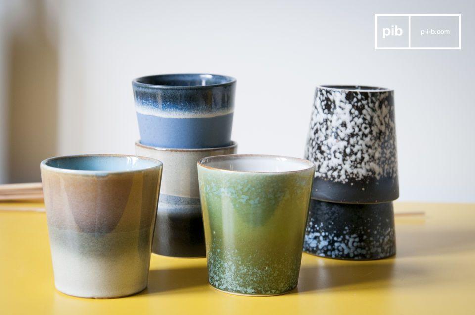 Seis tazas de café Ceramix