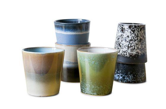 Seis tazas de café Ceramix Clipped