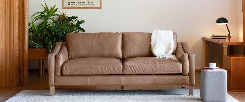 una amplia gama de sofás de cuero