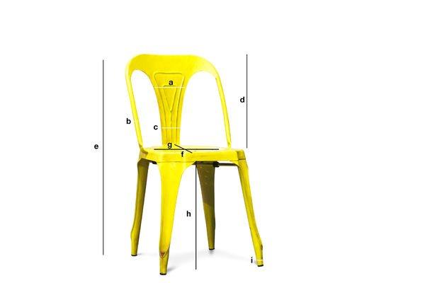 Dimensiones del producto Silla amarilla Multipl's
