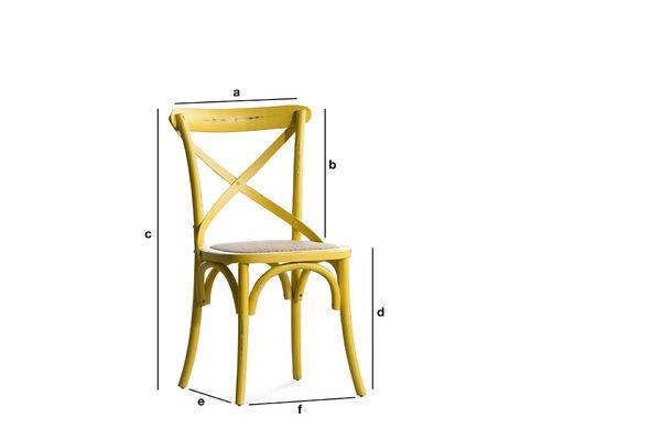 Dimensiones del producto Silla amarilla Pampelune