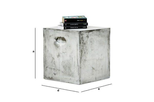 Dimensiones del producto Silla auxiliar cubica Smaton