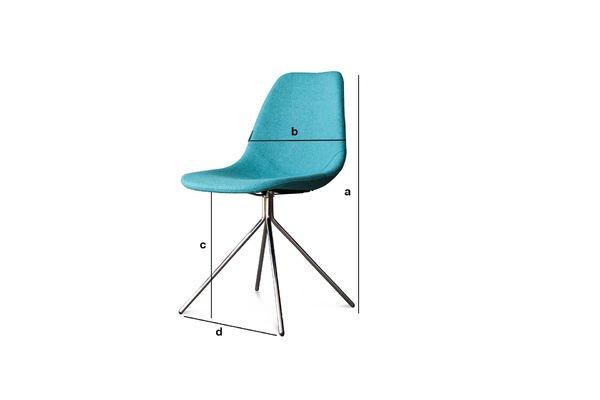 Dimensiones del producto Silla azul Piramis