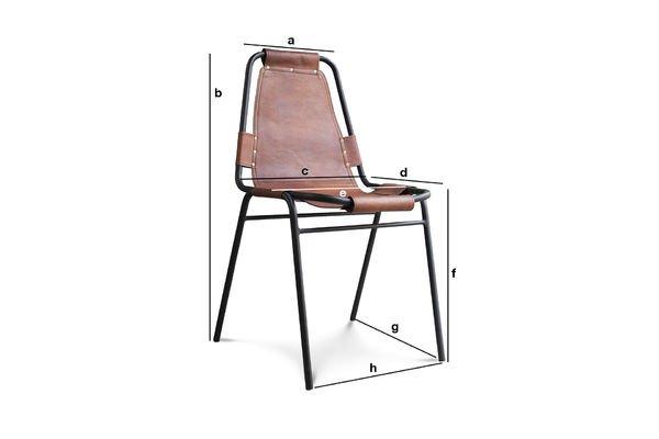 Dimensiones del producto Silla Bergson