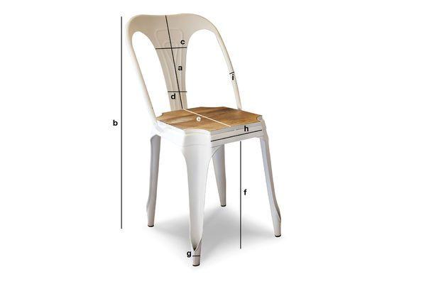 Dimensiones del producto Silla blanca Multipl's con madera