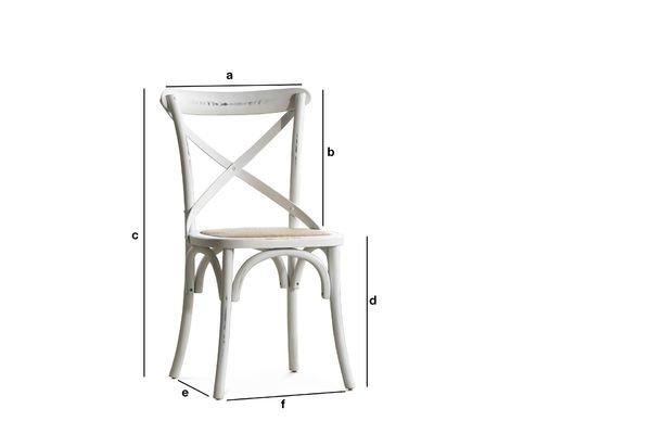 Dimensiones del producto Silla blanca Pampelune