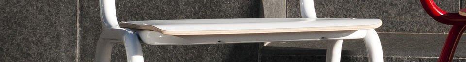 Descriptivo Materiales  Silla blanca Skole
