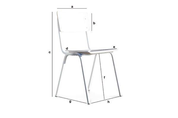 Dimensiones del producto Silla blanca Skole