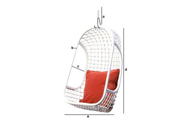 Dimensiones del producto Silla colgante Valkönen