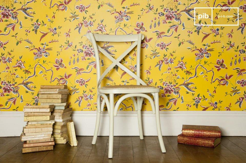Tonos rústicos para una robusta y cómoda silla
