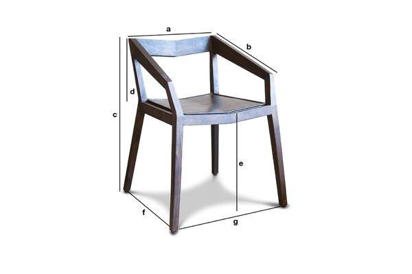 Dimensiones del producto Silla con apoyabrazos Balkis