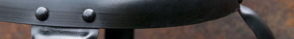 Descriptivo Materiales  Silla de bar con remaches negros