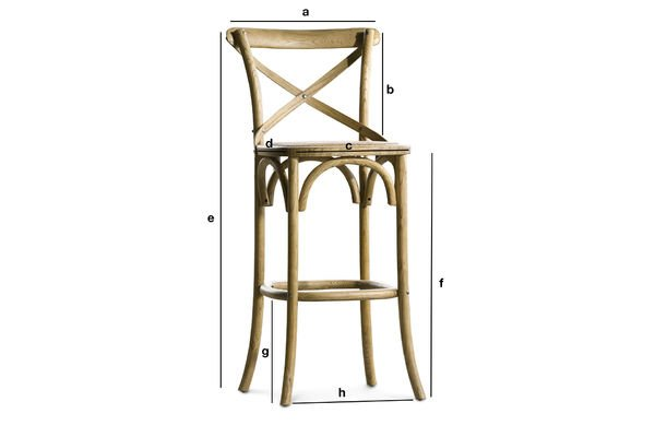 Dimensiones del producto Silla de Bar Pampelune