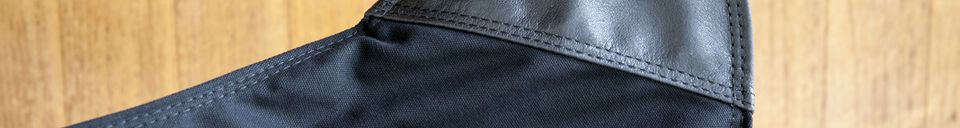 Descriptivo Materiales  Silla de lona negra Black Colina