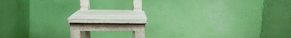Descriptivo Materiales  Silla de madera blanca para niños
