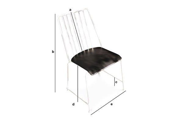 Dimensiones del producto Silla de metal Hossegor