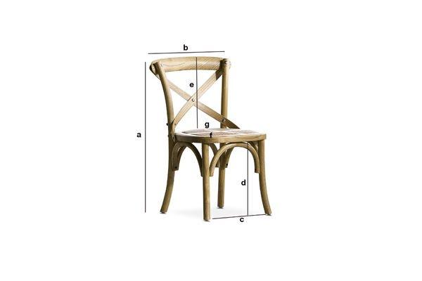 Dimensiones del producto Silla de niños Pampelune