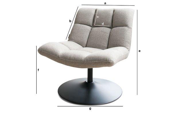 Dimensiones del producto Silla de sala Mesh