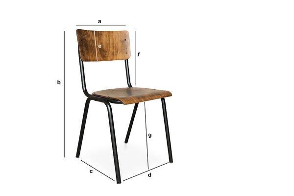 Dimensiones del producto Silla Doinel